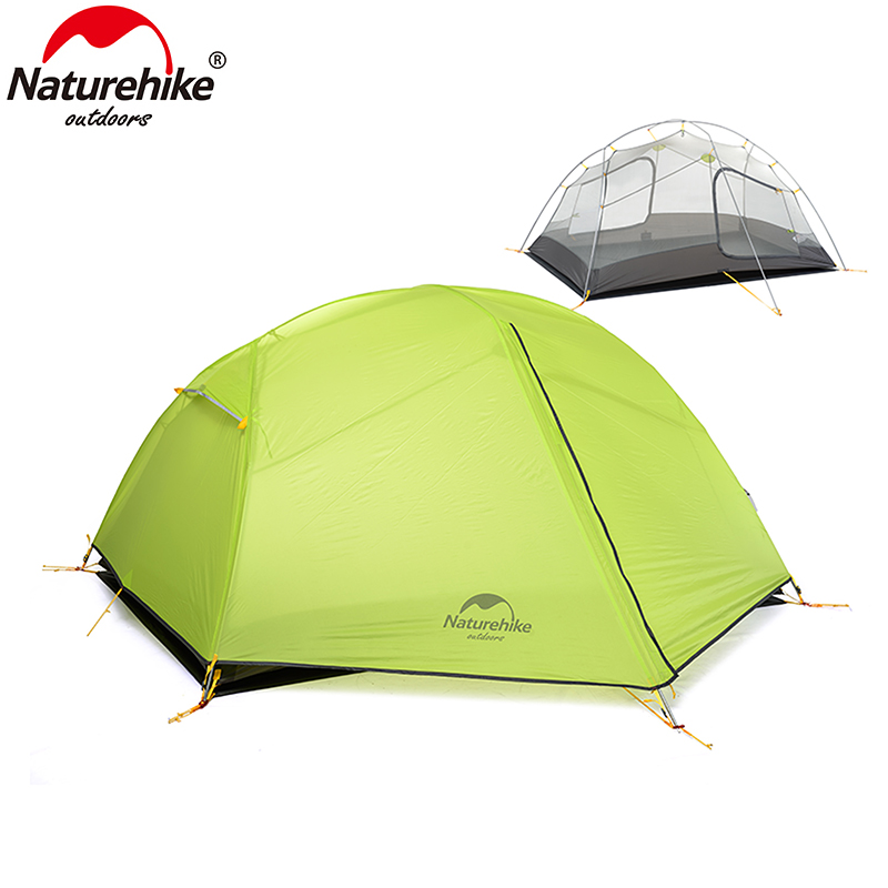 Naturehike Paro 2 Person Outdoor Waterproof Double-layer Tent Ultralight Camping 3 Season Rainproof Outdoor Camping Hiking Tent naturehike 3 person camping tent 20d 210t fabric waterproof double layer one bedroom 3 season aluminum rod outdoor camp tent