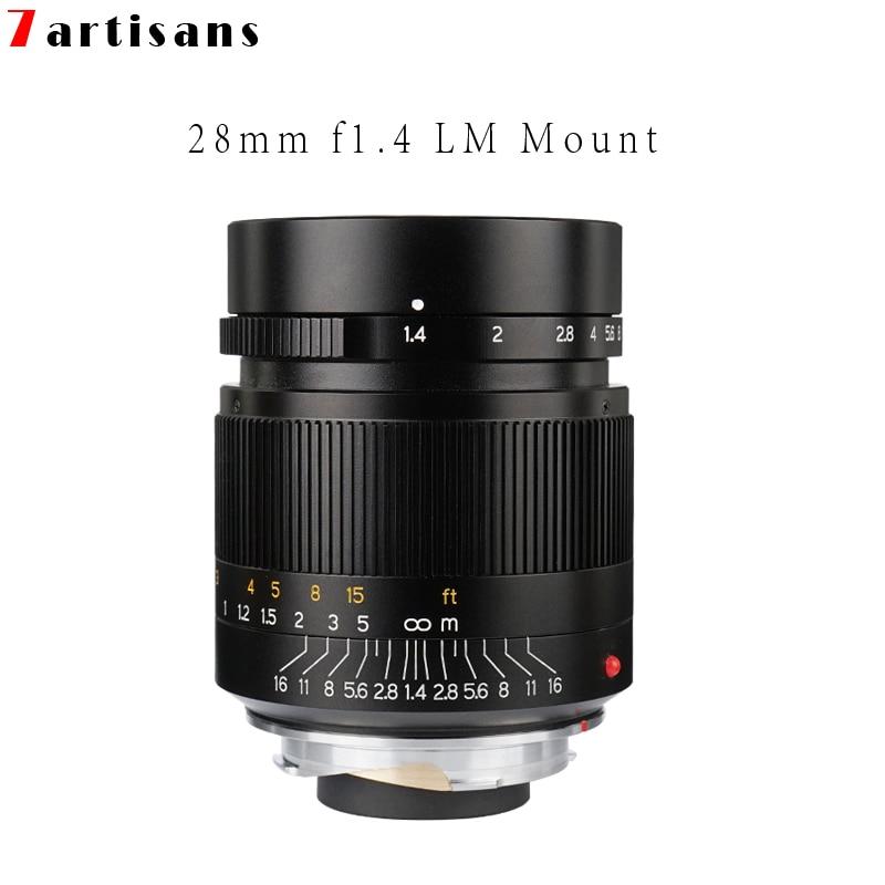 Camera Lens 7artisans 28mm F1 4 Large Aperture paraxial M mount Lens for Leica Cameras M