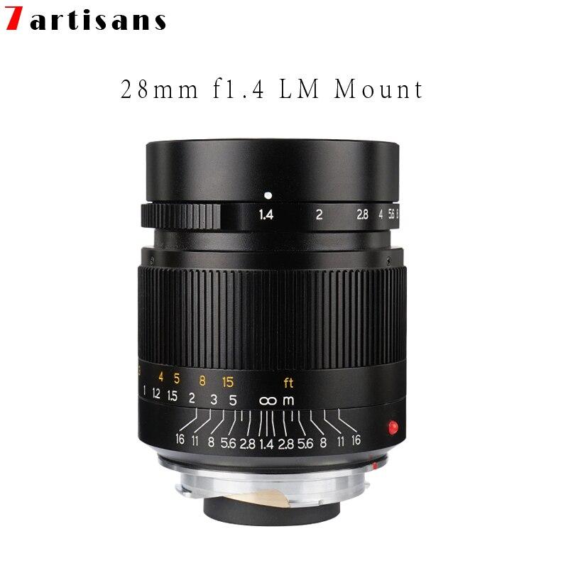 Camera Lens 7 artisans 28mm F1.4 Grande Ouverture paraxial M-monture pour Appareils Photo Leica M-M M240 M3 m5 M6 M7 M8 M9 M9P M10