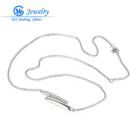 Fashion Ladies Necklaces Hot Sale Real 925 Silver 45cm Long Necklace Collection Gw Fine Jewelry XLY005