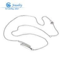 Damen halsketten heißer verkauf echt 925 silber 45 cm lange halskette sammlung kragen halskette circon gw schmuck xly005h20