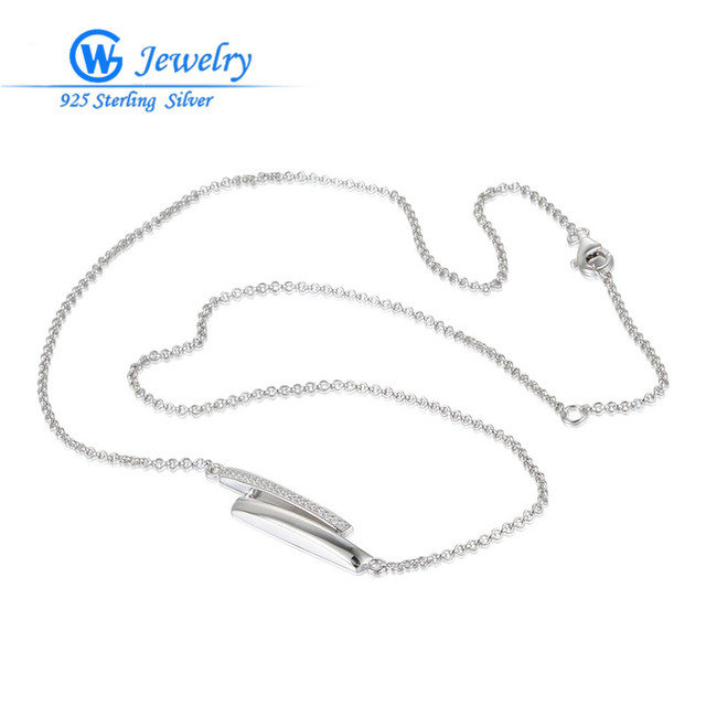 Ladies Necklaces Hot Sale Real 925 Silver 45cm Long Necklace Collection Collar necklace circon Gw  Jewelry XLY005H20