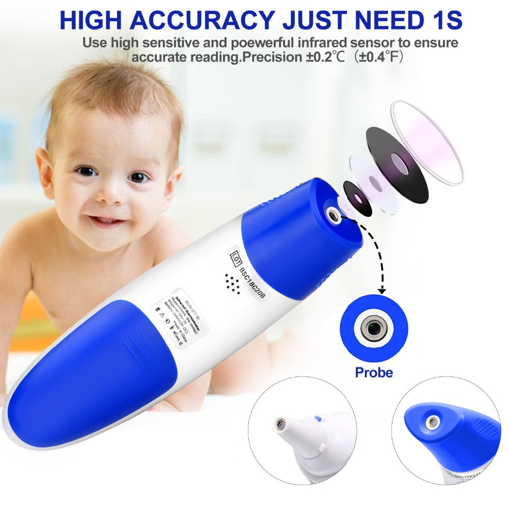 Professional home use Baby Ear and Forehead Digital Infrared Fever Thermometer for sale цена 2017