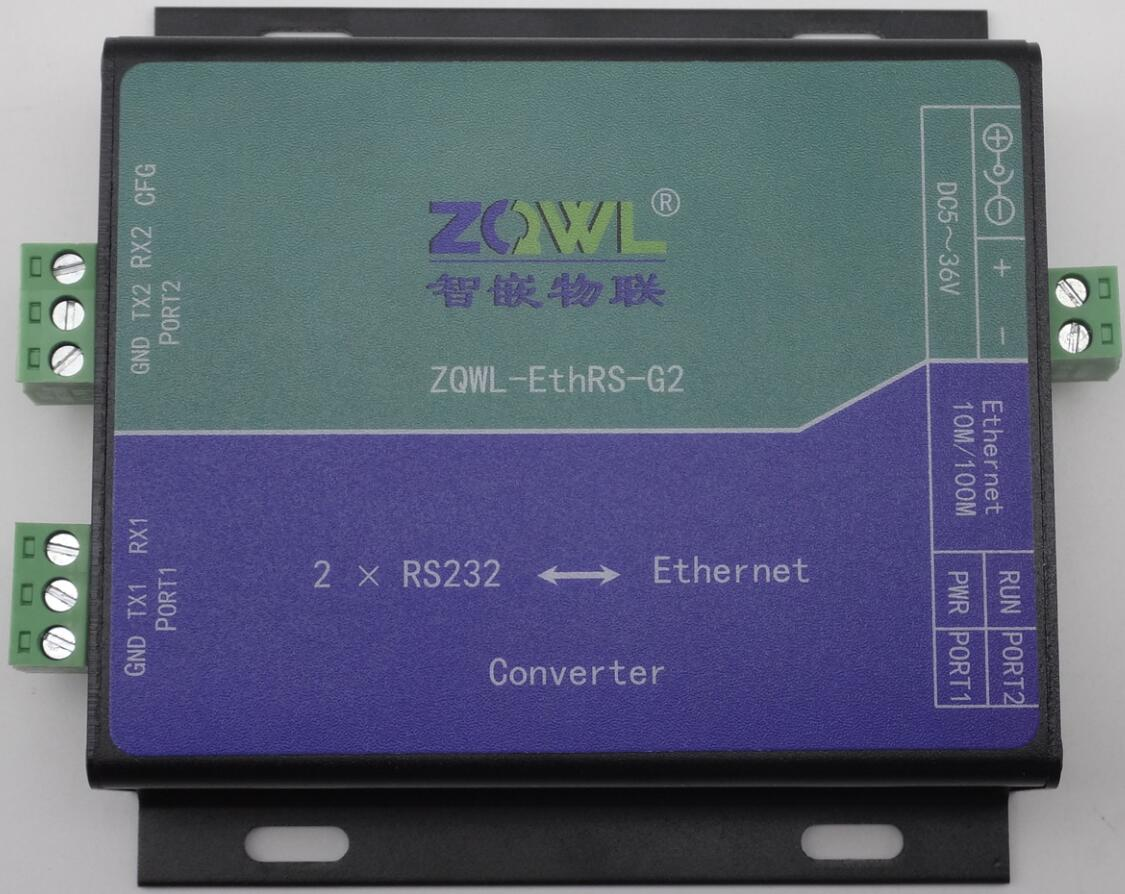 Serial Server 2-Channel RS232 Serial Port to Ethernet Network to Serial Port Modbus TCP RTUSerial Server 2-Channel RS232 Serial Port to Ethernet Network to Serial Port Modbus TCP RTU