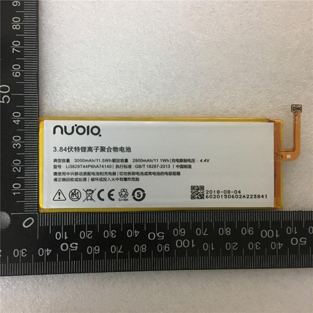 Batería Original 3000mAh Li3829T44P6HA74140 para ZTE Nubia Z7 Z9 NX508J NX510J NX511J Z9 Max Plus Z9 mini Batería Del Teléfono móvil