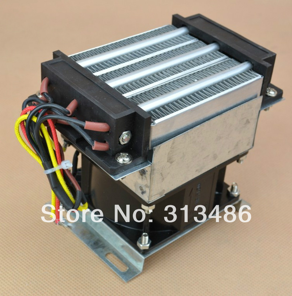 220V 300W fan heater temperature controller egg incubator air heater with heat sink fan
