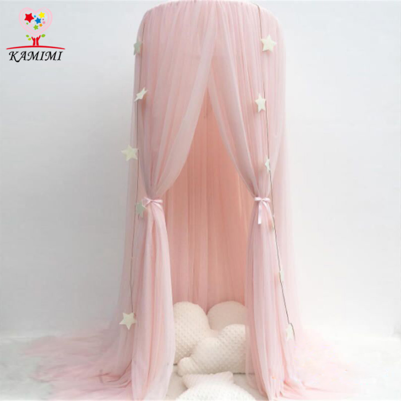 Kamimi canopy children tent Baby Mosquit Net Palace Children bedroom Dome Bed Netting curtain Cotton  Kids fille Bedroom Tent esspero canopy