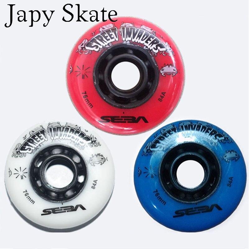 Prix pour Jus japy Skate Envahisseurs De Patinage Roues 84A Slalom Roller Skating Roues SEBA HAUTE IGOR WFSC Roues Rouleau Coulissant Coulissantes Roues