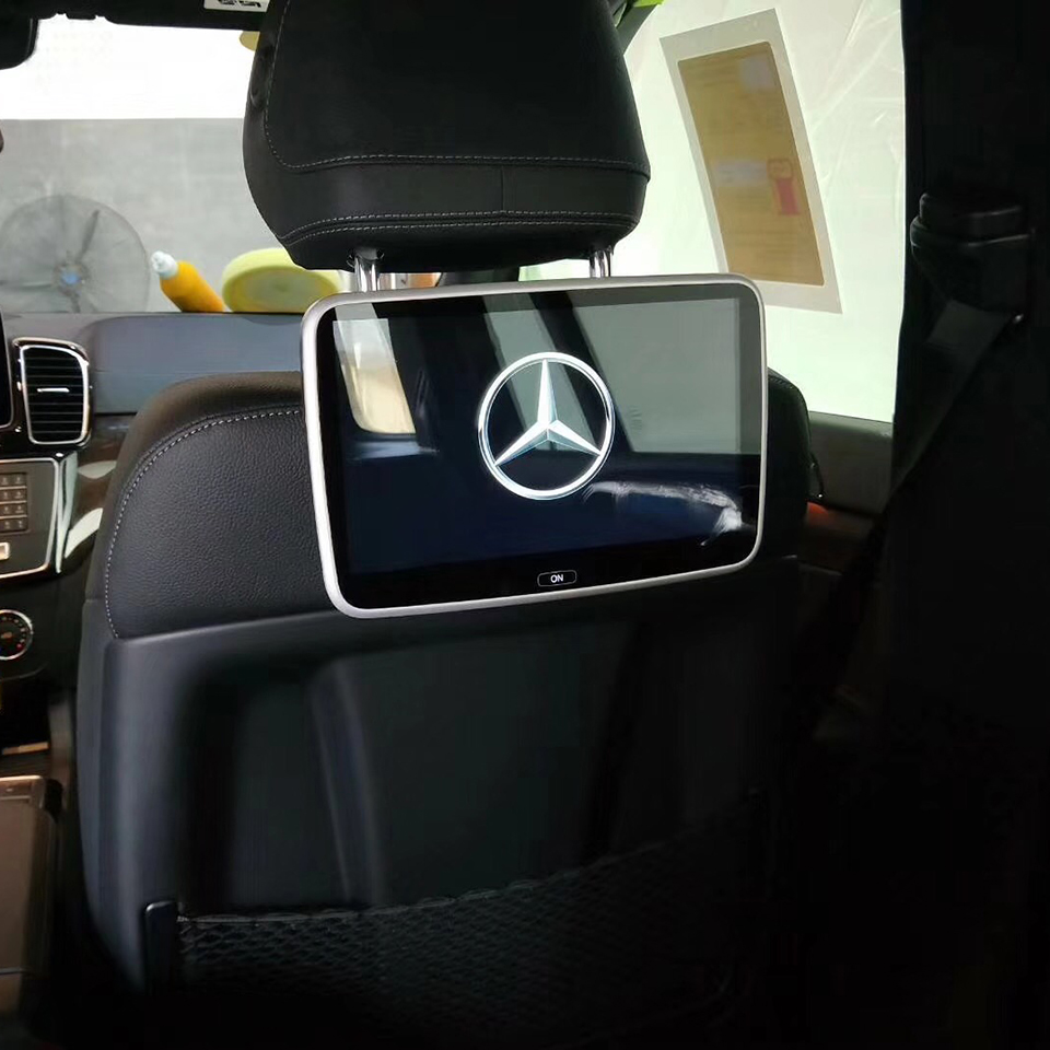 Android Headrest Car Monitors For Mercedes A B C E S V ML GL CLA CLS GLK SLK Class 2PCS Rear Seat Entertainment Screen 10.6 inch