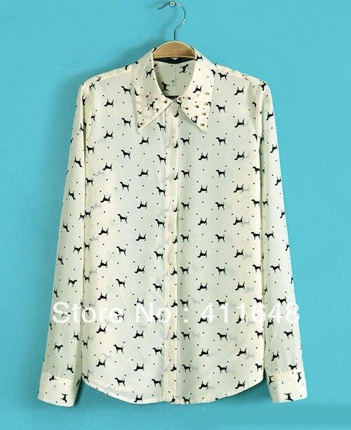 witte blouse met print