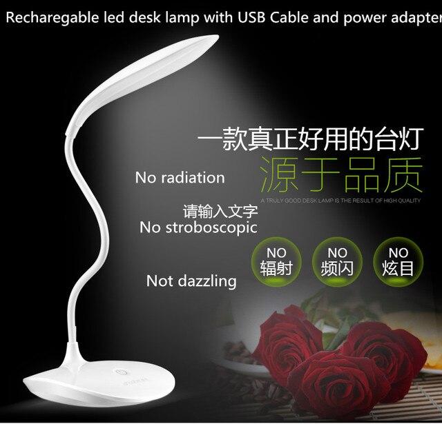 free ship LED USB Desk Lamp Abajour Led Reading Book Light Touch Power Bank Table Lamp For Lighting Escritorio Abajur Kindle