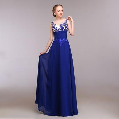 Vestido para madrinha de casamento 2019 azul royal
