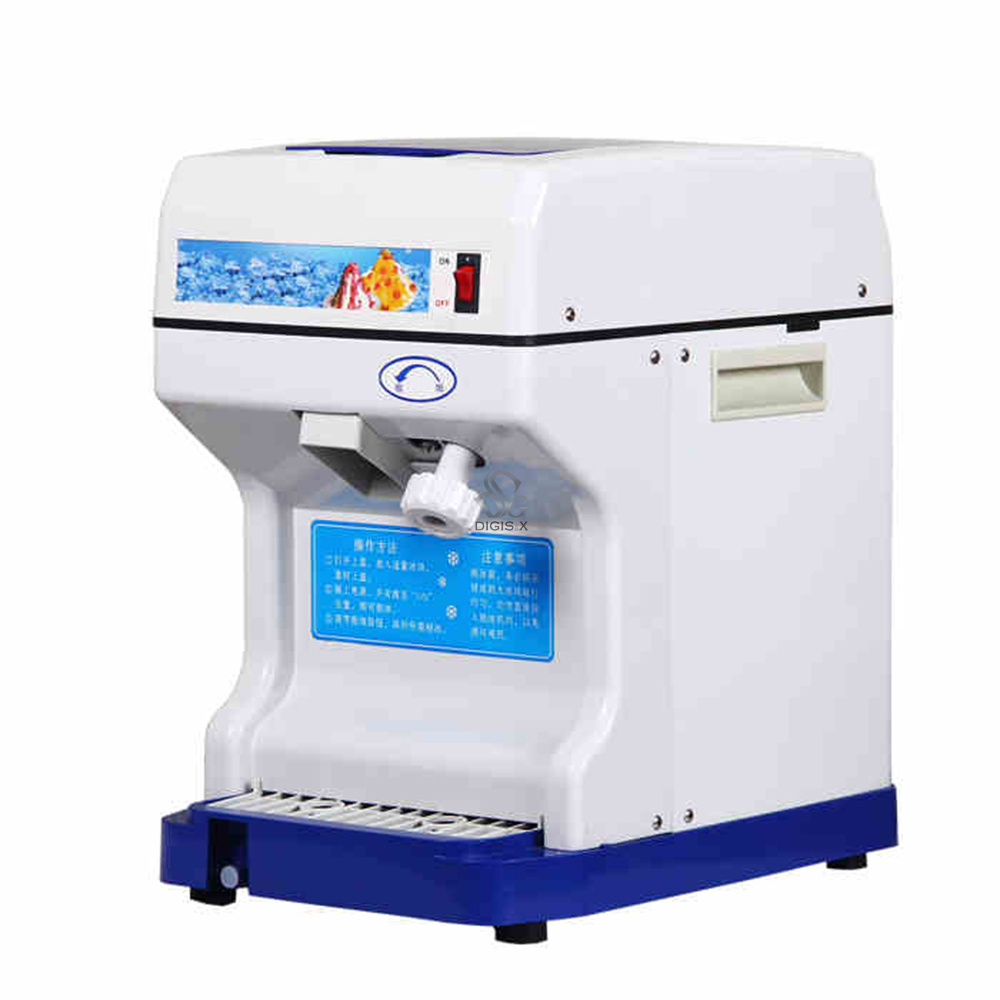 220V Commercial Electric Cube Ice Crusher Shaver Machine For Coffee MilkTea Shop  Hk-168