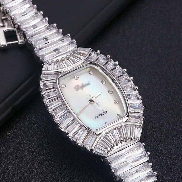 نساء السيدات بلينغ الماس كريستال حزام ساعة موضة فاخرة الفولاذ المقاوم للصدأ التناظرية الكوارتز ساعات المعصم هدية relogio feminino