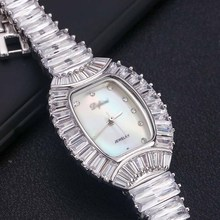 Mulheres senhoras bling diamantes pulseira de cristal relógio moda luxo aço inoxidável analógico quartzo relógios presente relogio feminino