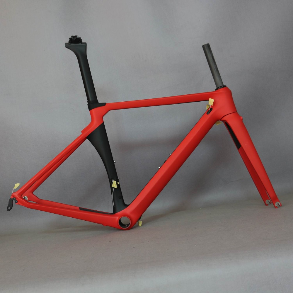AERO OEM Full Carbon Frame, Nuovo disegno vernice cornice SERAPH marca telaio All'ingrosso telaio TT-X8.