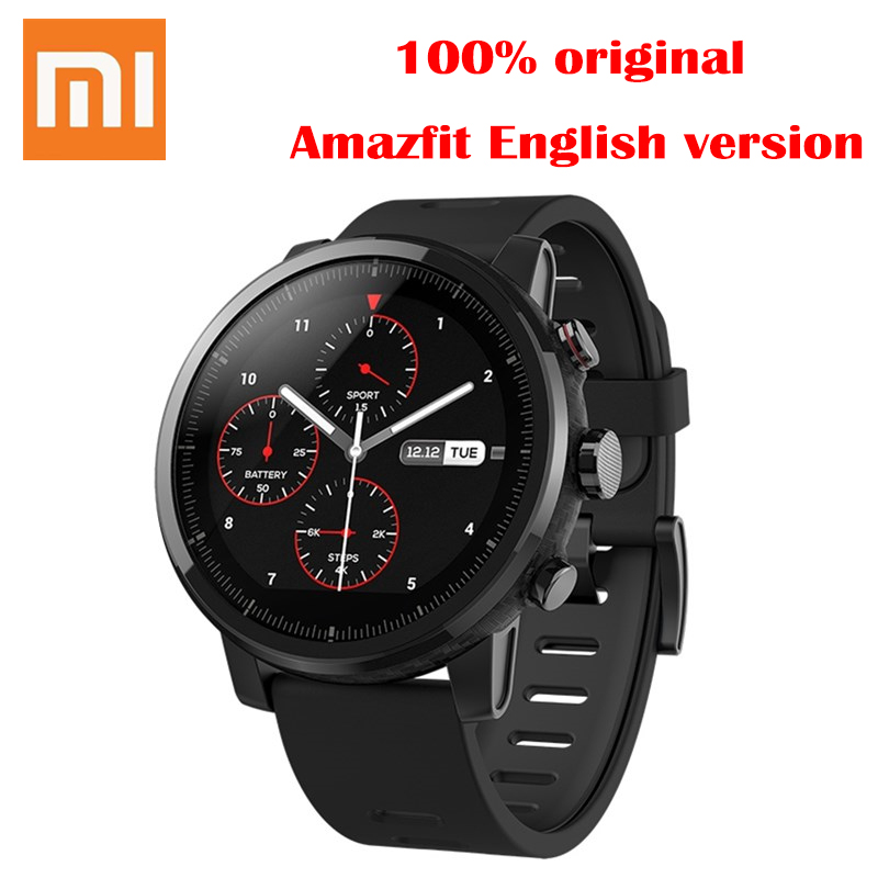Original Xiaomi Amazfit Smartwatch 2 Running Watch GPS Xiaomi Chip Alipay Payment Bluetooth 4.2 Anti-Lost For IOS/Android Phones