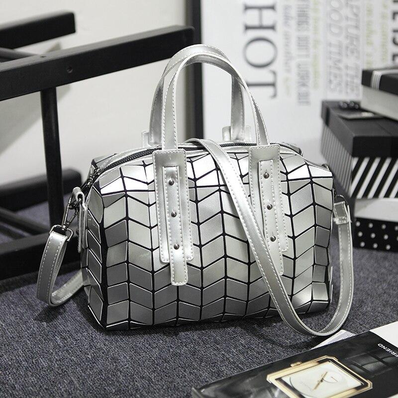 ФОТО 2017 Brand  Women Bag High Quality Geometric Handbags Plaid Shoulder Diamond Lattice BaoBao Ladies Bags Pillow Bags