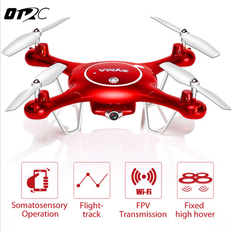 OTRC 2018 Drone with WiFi Camera HD 720P X5UW Real-time Transmission FPV Quadcopter 2.4G 4CH RC Helicopter Dron Quadrocopter x8sw quadrocopter rc dron quadcopter drone remote control multicopter helicopter toy no camera or with camera or wifi fpv camera