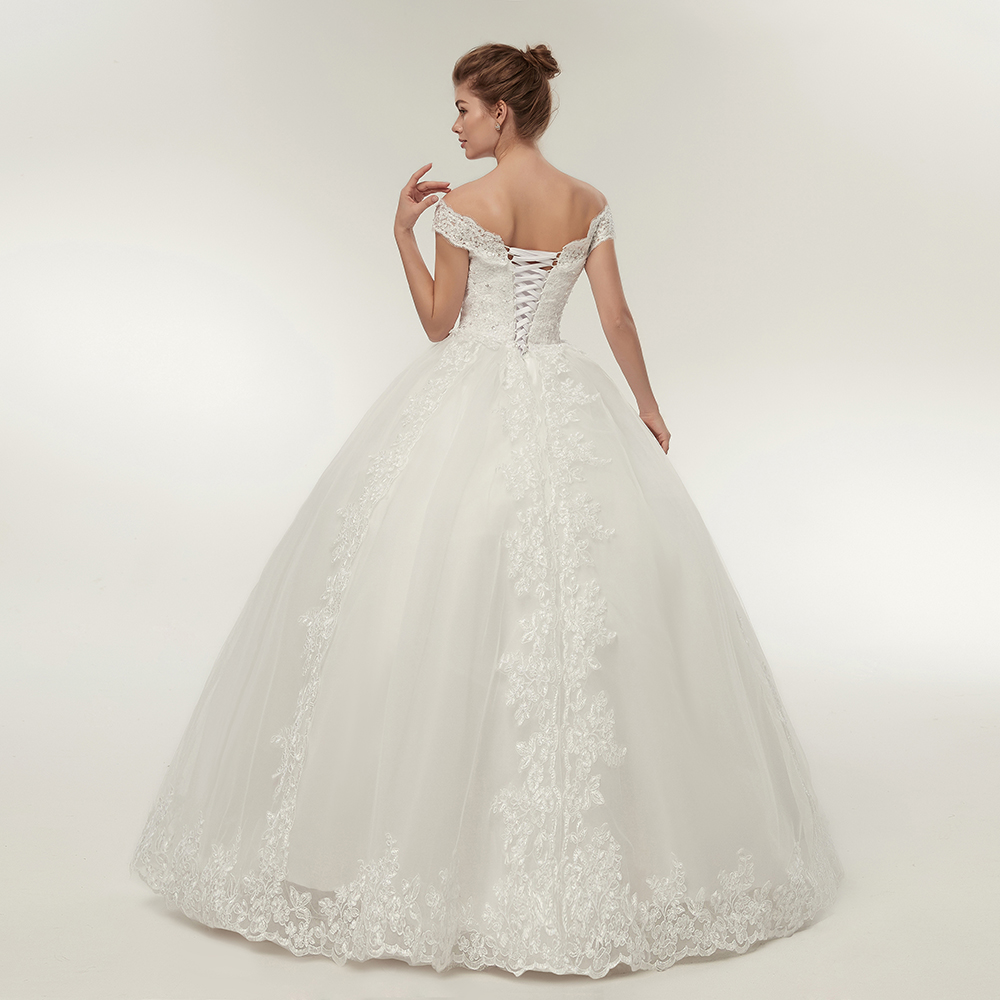 Fansmile Korean Lace Applique Ball Gowns Wedding Dresses 2019 Plus Size  Bridal Dress Princess Wedding Gown Real Photo FSM 003F-in Wedding Dresses  from ... 3843d8cebe91