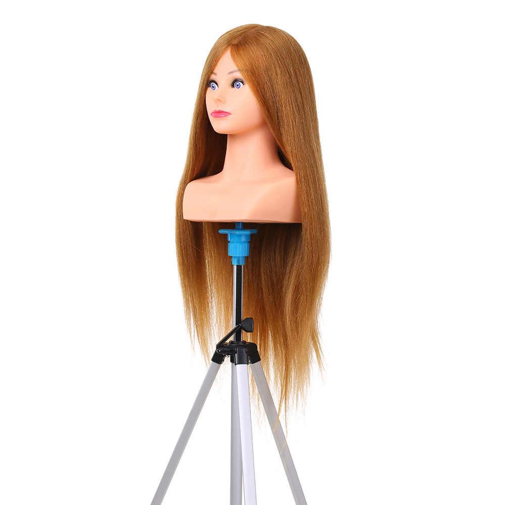100% ludzkie włosy manekin głowy do oplatania manekina głowa do fryzjer profesjonalne kosmetologii manekin głowy