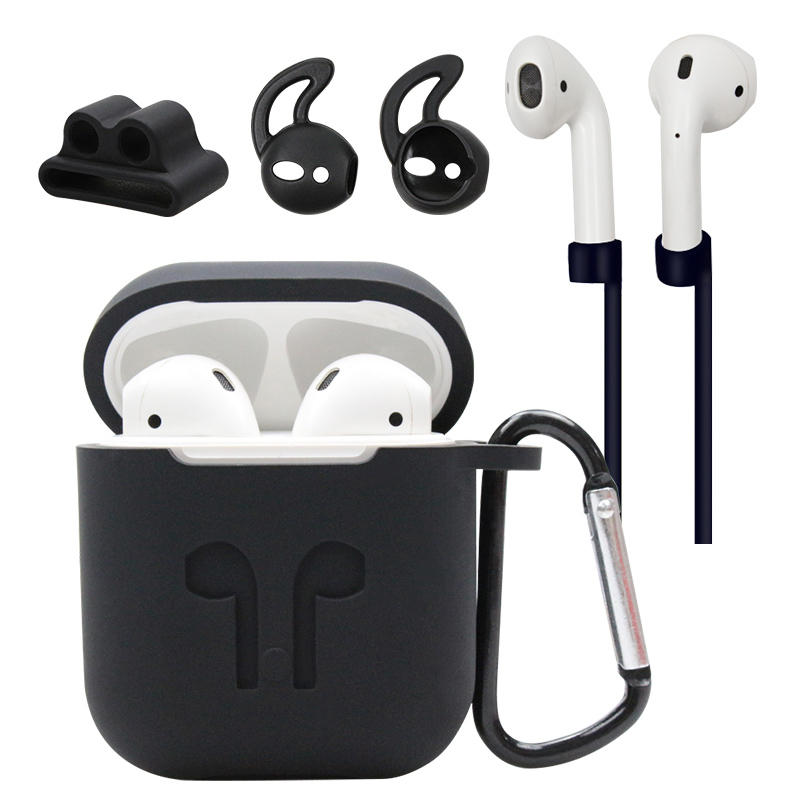 Airpods Silicone Bluetooth Wireless Earphone Case For AirPods Protective Cover Skin Accessory for Apple Airpods Charging Box