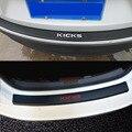 Защитный задний бампер  Накладка для багажника  автомобильные аксессуары для NISSAN Kicks  искусственная кожа  углеродное волокно  Стайлинг посл...