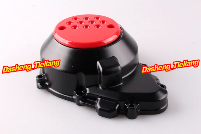 Engine Stator Crank Case Generator Cover Crankcase For Kawasaki Z1000 2003 2004 2005 2006 CNC Aluminum Black + Red engine stator crank case generator cover crankcase for yamaha fz400 all years cnc al black color