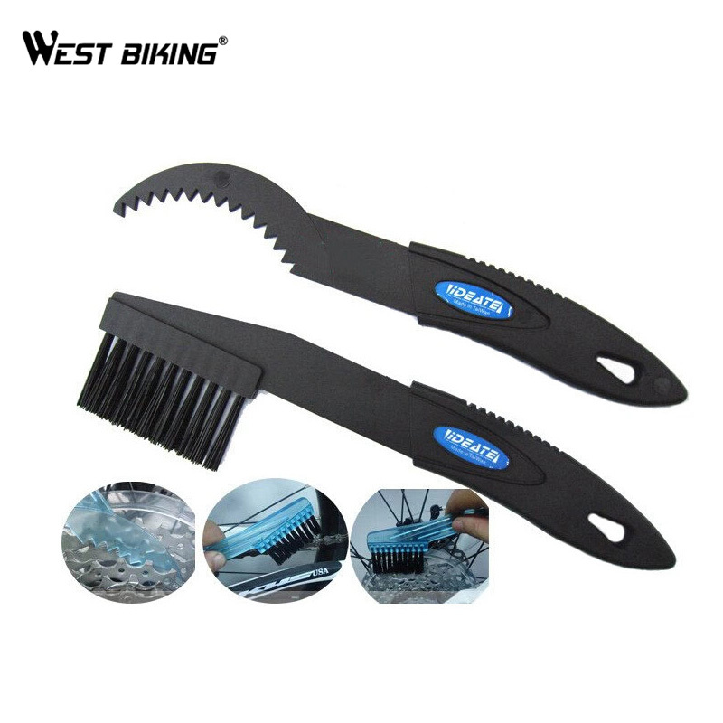 WEST BIKING 1 Pair New Soft Portable Bicycle Chain Cleaner Brushes Wash Tools Sets Cycling Chain Protector Bike Chain CleanerWEST BIKING 1 Pair New Soft Portable Bicycle Chain Cleaner Brushes Wash Tools Sets Cycling Chain Protector Bike Chain Cleaner