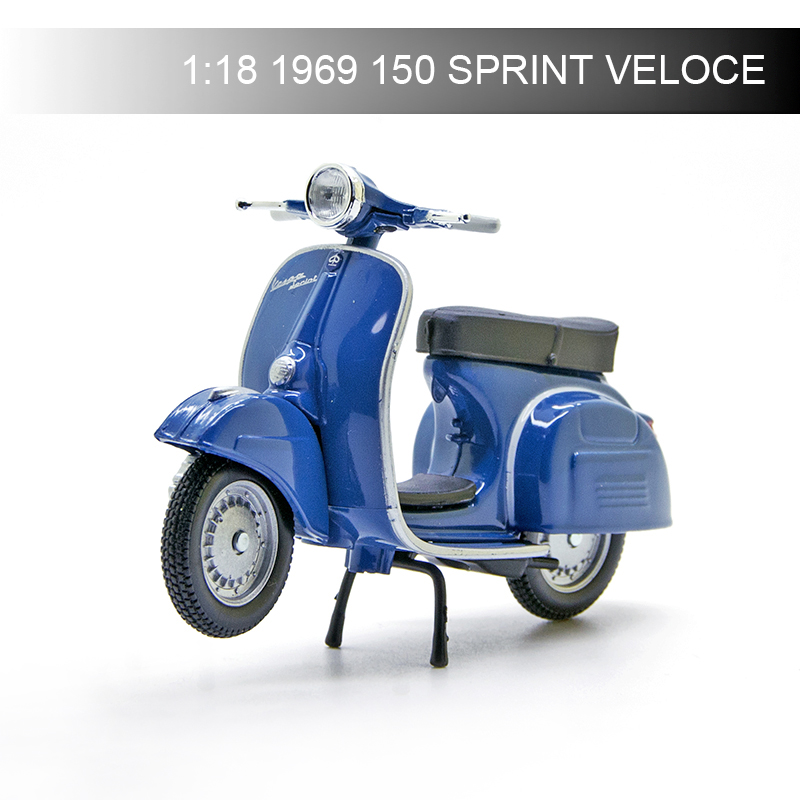 Maisto 1:18 VESPA Piaggio 1969 150 SPRINT VELOCE Motorcycle Models Model Bike Base Diecast Moto Children Toy For Gift Collection