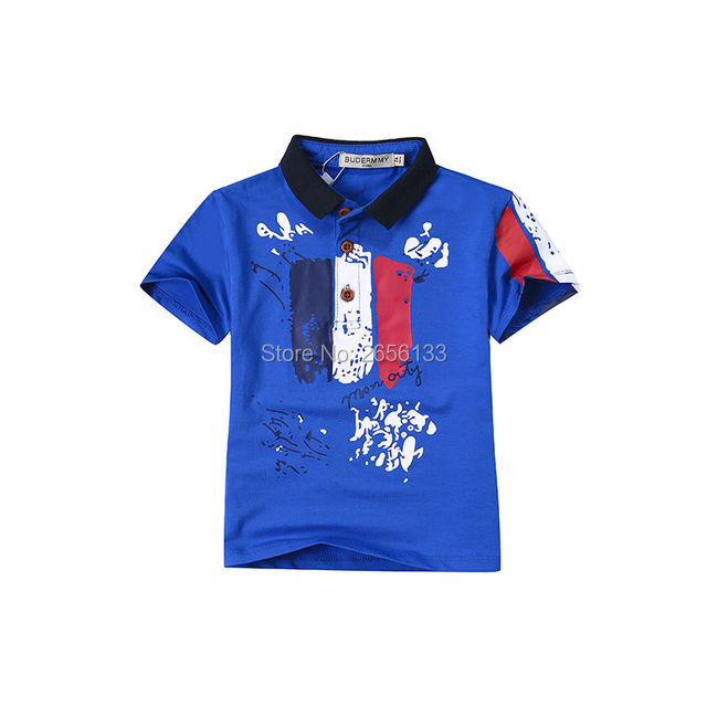 Camisetas para meninos 2017 marca de moda verão meninos curto-de mangas compridas lapela camisa Do Bebê T-shirt Crianças T-shirt para meninas bobo choses
