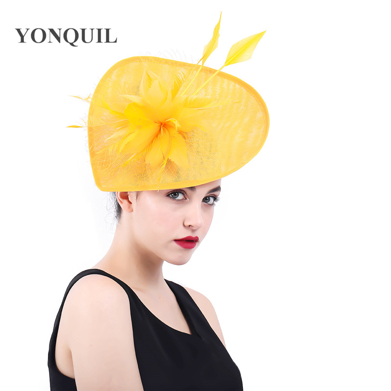 Fascinators Ladies Hats For Weddings Church feather Fedora Feather Pillbox Hat With Vintage Derby Hats 2018