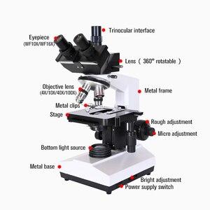 Image 5 - Chuyên Nghiệp Phòng Sinh Học HD Trinocular Kính Hiển Vi Zoom 1600X Kính Điện Tử Kỹ Thuật Số 7 Inch LCD LED Đế Điện Thoại USB
