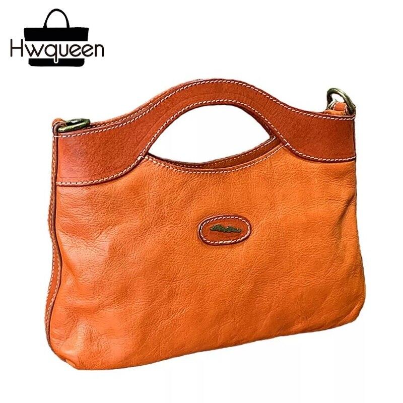 Environmental Natural Soft Cow Skin Women s Single Shoulder Bag Zipper Closure Genuine Leather Lady Clutch