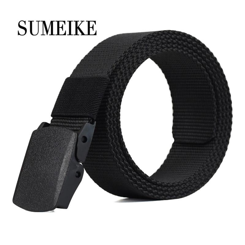 SUMEIKE Canvas Belt Men 2019 Fashion Brand Army Military Waistband Adjustable Male Waist Strap Tactical Belt Nylon