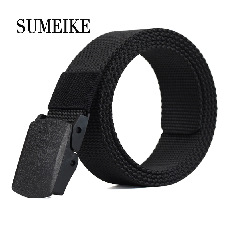 SUMEIKE Canvas   Belt   Men 2019 Fashion Brand Army Military Waistband Adjustable Male Waist Strap Tactical   Belt   Nylon