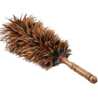 56cm Chicken Feather Dusters Natural Color Household Dust Removal Duster Dust House Cleaning Brush