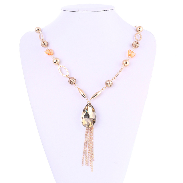 crystal pendant jennygwen necklace beads images large on pinterest img best ideas chandelier jewelry