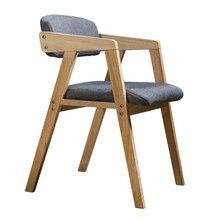 Современный минималистичный твердый обеденный стул из дерева Скандинавское кресло ретро Американский стол стул домашний Ресторан спинка стул для отдыха
