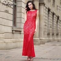Hot Sale Lady S Long Maxi Fashion Elegant Sexy Sleeveless Lace Backless Dress Women 2016 New