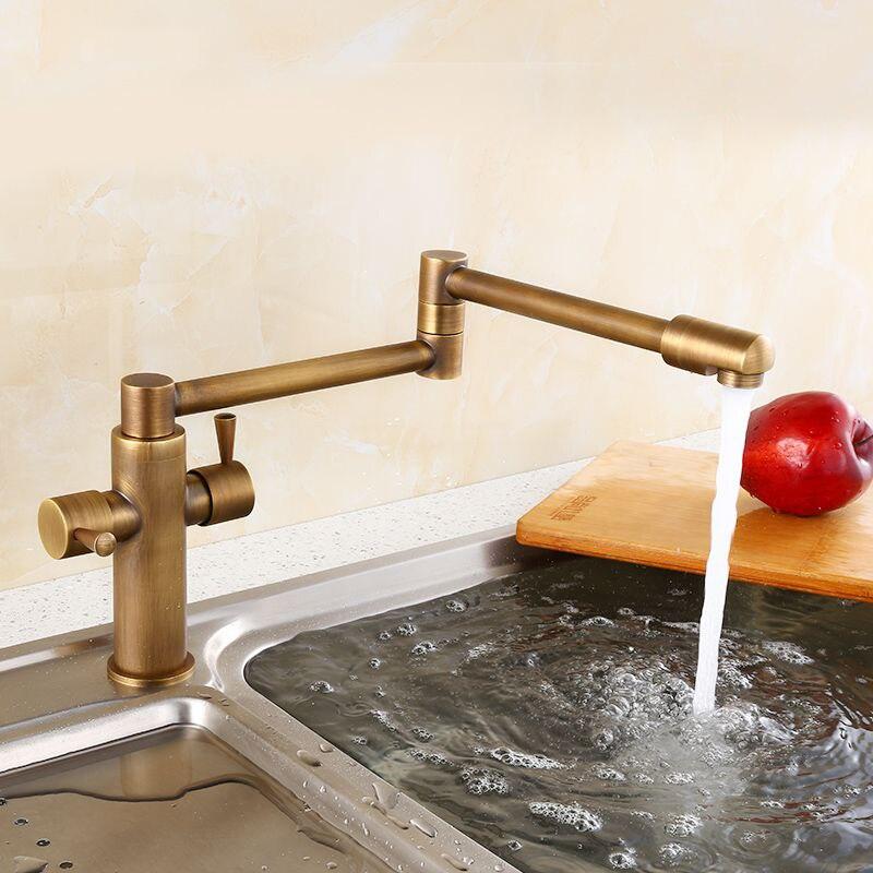 Acquista all 39 ingrosso online bronzo rubinetti da cucina da - Rubinetto cucina pieghevole ...