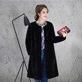 Genuine Rabbit Fur Coat for Women 2017 New Fashion Women Coat & Outerwear Long Sleeve O-neck Women Rabbit Fur Coat Lady Clothing