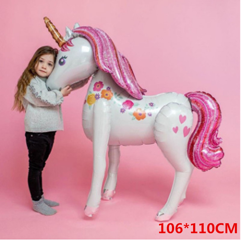 Image 2 - Unicorn Party Balloons Happy Birthday Party Air Ball Package Baby Shower 1st Birthday Decoration Girl Boy Letter Balloon-in Party DIY Decorations from Home & Garden
