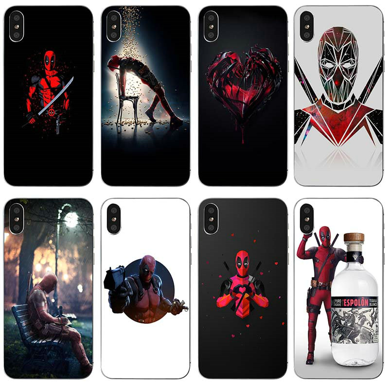 Deadpool Superhero Lovely Soft TPU Clear Silicone Mobile Phone Cases for iPhone X XR XS Max 10 7 6 6s 8 Plus 4 4S 5 5S SE 5C Bag