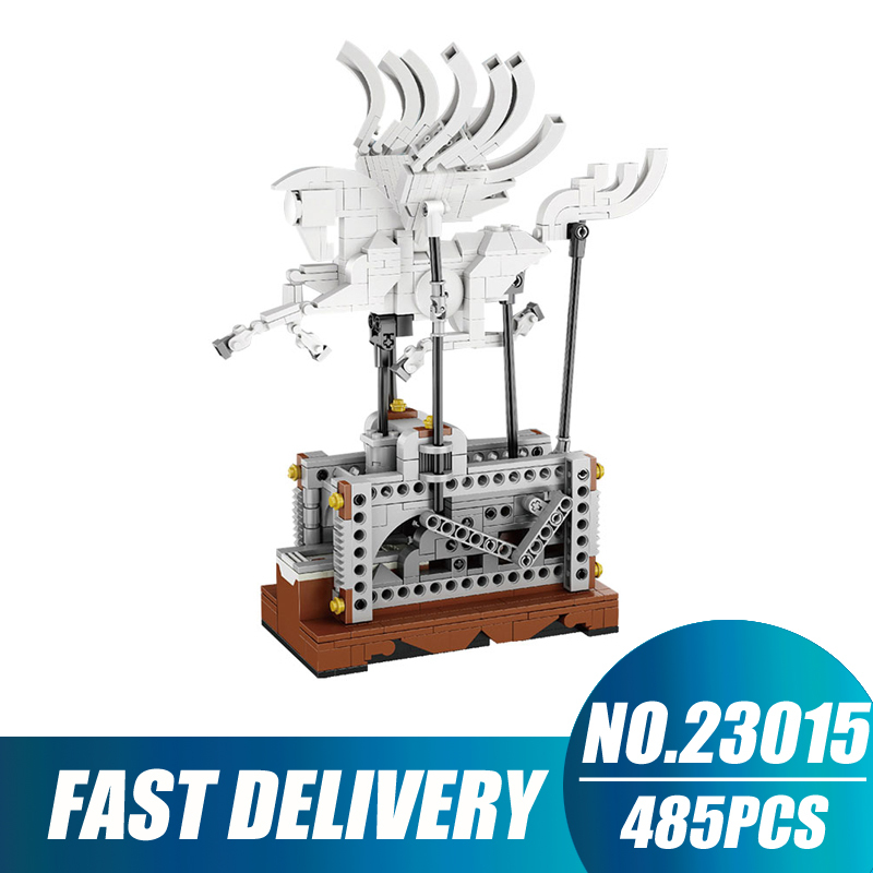 Compatible Legoe Technic Creative Lepin 23015 485pcs Electric Unloading Pegasus building blocks Bricks toys for children in stock lepin 23015 485pcs science and technology education toys educational building blocks set classic pegasus toys gifts