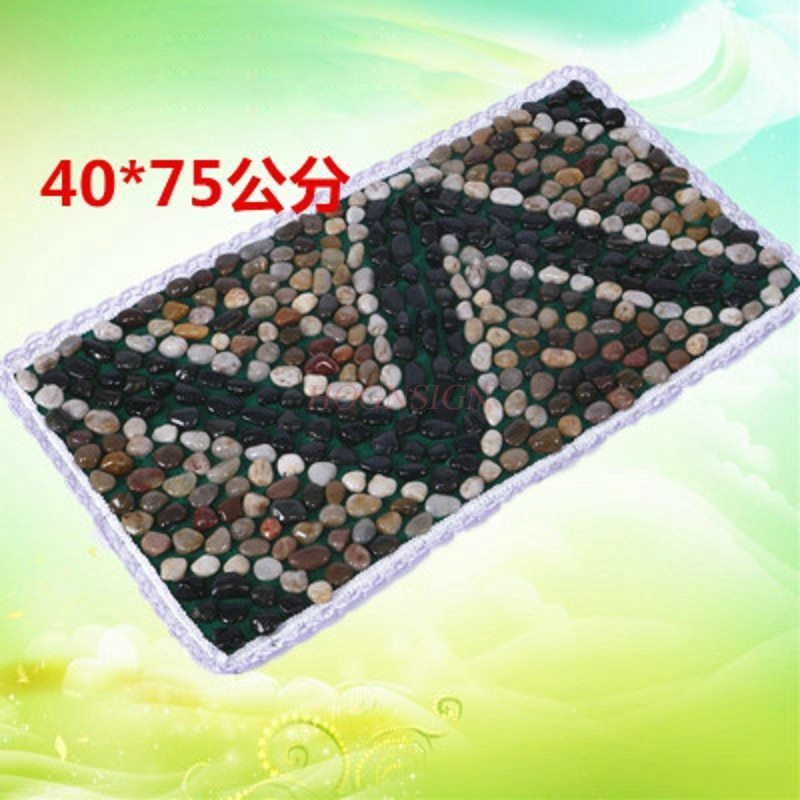 Natural Rain Stone Cobblestone Foot Massage Cushion Feet Massager Pedicure Carpet Pad Finger Road Plate Multi-color Option natural stone cobblestone foot massage pad foot massage device stone pad blanket mat plate
