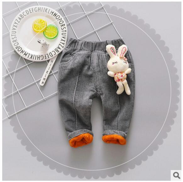 2017 Kinder Koreanische Jeans Herbst Und Winter Mädchen Plus Kaschmir Dicke Warme Baumwolle Hosen Weibliche Baby Pantsfree Lieferung