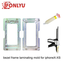 Magnet Fasten Design Bezel Frame Laminating Mold (With Glue Gun And Glue)For iphoneX/XS LCD Repairing Tool