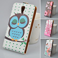Cartoon PU Leather Case Flip Cover Mobile Phone Case Bag For HTC Desire 620 620G For HTC Desire 820 Mini Phone Bag 5 Colors