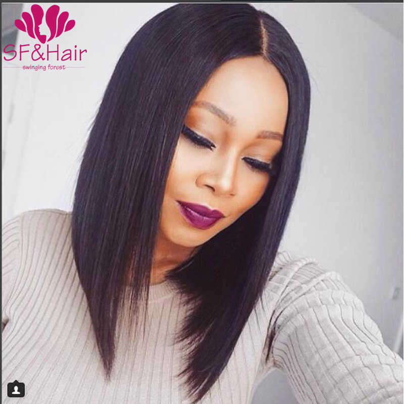 New Arrivals Bob Lace Front Wigs Brazilian Silky Straight Virgin Human Hair Bob Wigs For Black Women 8A Full Lace Wig Baby Hair
